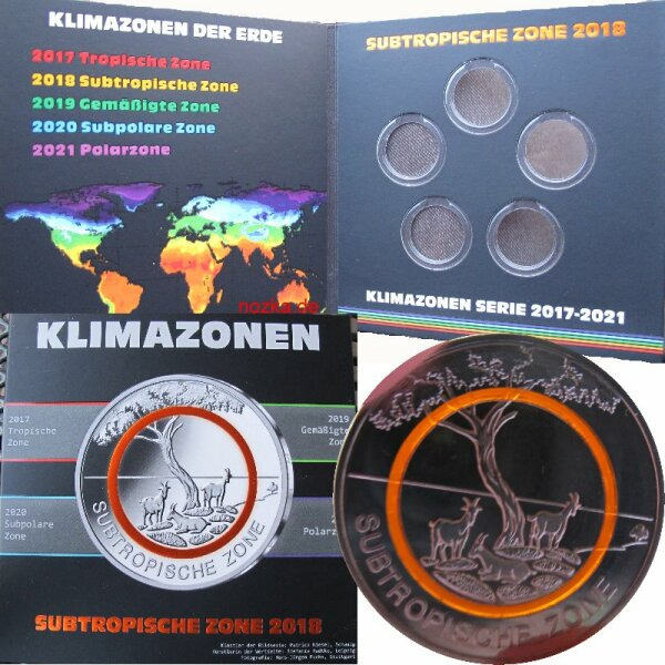 Folder Für 5 Euro Münzen Deutschland 2018 895