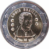 Belgien 2 Euro 2009 Louis Braille