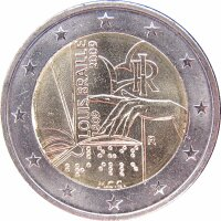 Italien 2 Euro 2009 Louis Braille